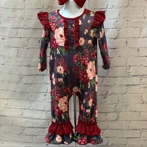 Boutique Baby Girl's Floral Romper